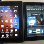 Планшет BlackBerry PlayBook и Kindle Fire