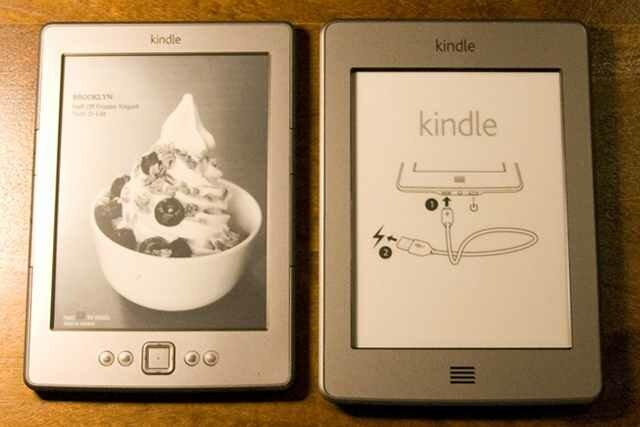 Kindle Touch сравнение с Kindle 4