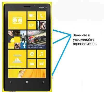 Зависла Nokia Lumia 920 Описание Hard и Soft Reset