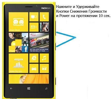 Зависла Nokia Lumia 920: Описание Hard и Soft Reset