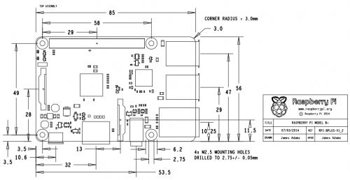 одноплатный компьютер RASPBERRY PI MODEL B+