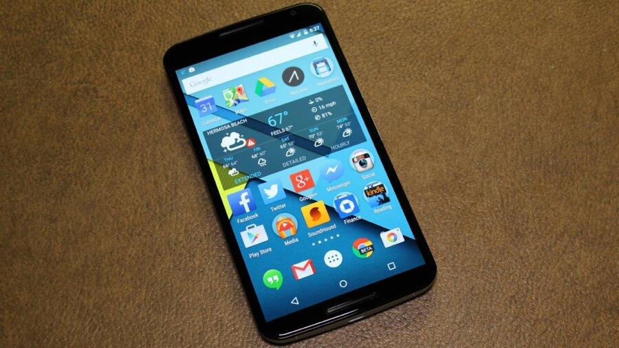 Nexus 6 дисплей смартфона