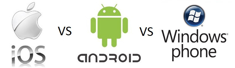 android против ios против windows phone