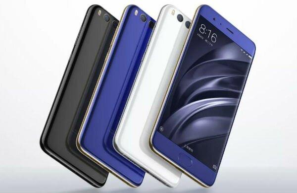 Xiaomi Mi 6 три цвета смартфона